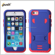 2015 new items PC+Silicon stand cases for iphone 6