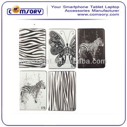 New! ultrathin ZEBRA butterfly stand PU Leather Case for iPad Mini accept Paypal