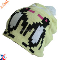 beanie hats knitted jacquard fabric knit animal hat