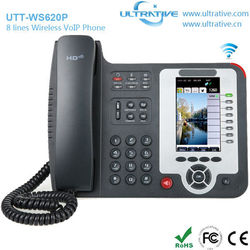 8 Lines WiFi VoIP Phone, Executive Wireless IP Phone Support 8 SIP Accounts, Executive HD Wireless Desktop IP Phone