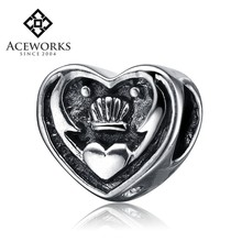 Hot Sale Antique 925 Sterling Silver Heart bracelet Charm