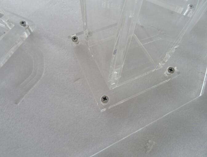 прозрачный современный дизайн дешево акриловый аналой