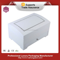 high-end white high lacquer crystal wooden box jewelry drawer for gift