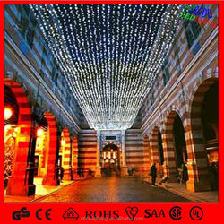 Factory price city hanging 2D led skylines Christmas street decorations light outdoor