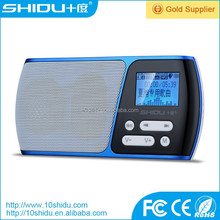 Portable speaker with fm radio support USB/TF card 3.5mm audio input with 800mAh battery