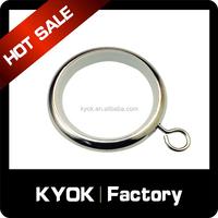 Window design gold eyelet ring,decorative metal drapery clip ring
