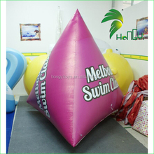 Creative design clear logo 0.4mm PVC material inflatable water buoys