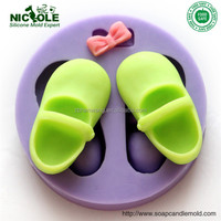 F0297 Nicole baby shoes handmade cake decoration tools silicone fondant mold