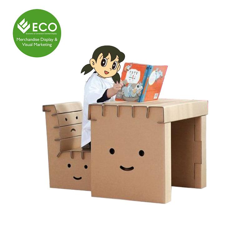 Nouveau Design Personnalisé En Carton Pour Enfants Bureau Et Chaise