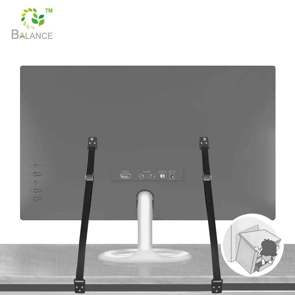 En métal Anti-Basculement Meuble En Kit Tv Sangles De Sécurité Pour Écrans Plats-Paquet