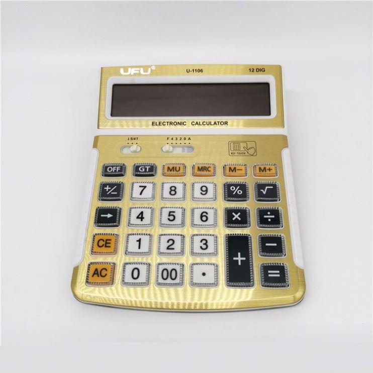 中国工場卸売オフィスデスクトップ 14 桁電子ソーラー電卓ピンク電卓ビッグ桁電卓