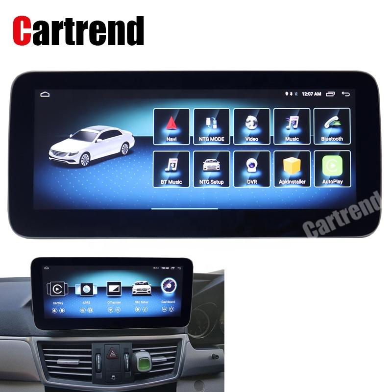 Reproductor de DVD RHD Clase E W212 NTG5 pantalla de navegación android 8 esquina redonda azul ray pantalla E350 4G E63 radio
