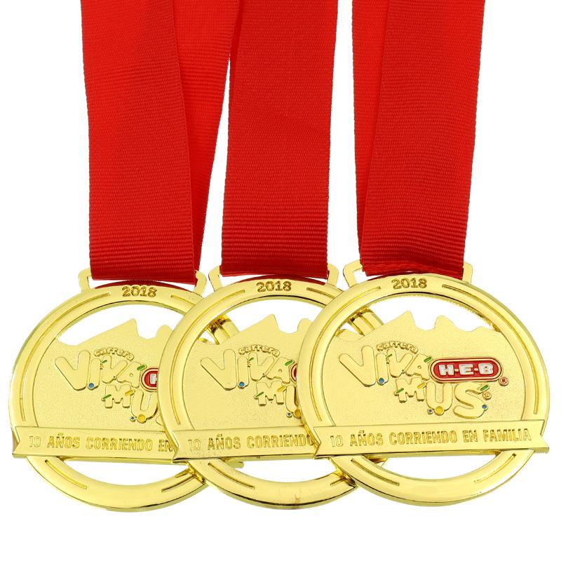 Fabbrica cinese Regalo Personalizzato Medaglia Premio Nastro Drappo