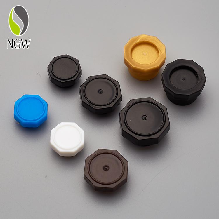 De plástico negro octogonal tapa PP de aceite esencial tapa para venta