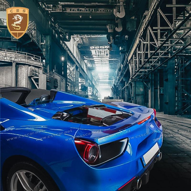 Piezas del coche de fibra de carbono coche capó Bonnet para Fera-ri 488 GTB capó del motor