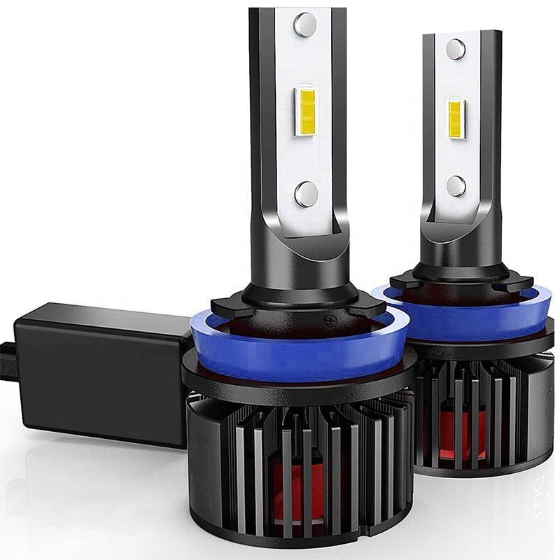 H11 EMC pass led fan de bulbo de automóvil con sincronización de calor led faro de automóvil H11 LED