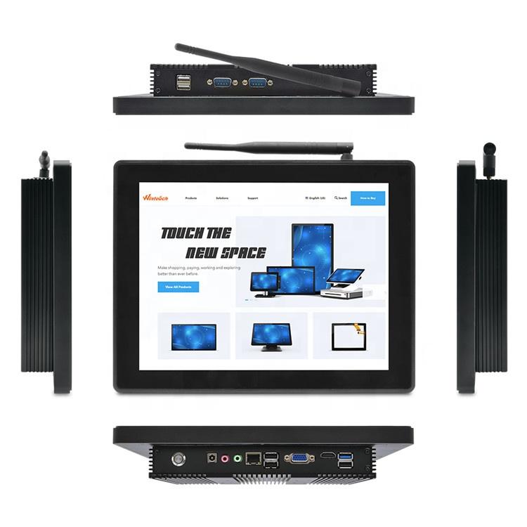 12,1 pulgadas táctil sin ventilador pc todo en uno con mini PCI-E WIFI 3G GPRS GPIO... RS485... i3... i5... i7