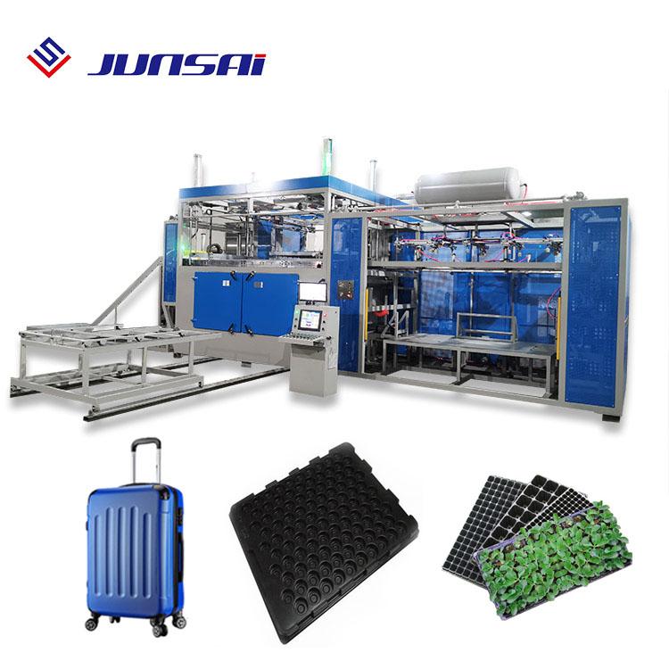 Pc y abs hoja gruesa mini equipaje tapón de plántulas bandeja de vacío que forma la máquina de termoformado automático