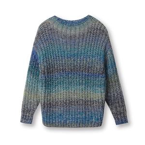 Custom knit sweater Italian space dye yarn women pullover sweater