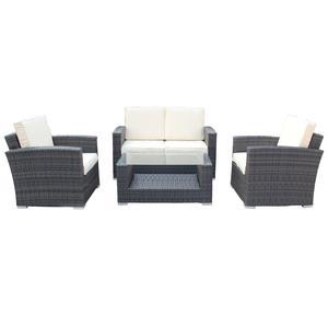 مصنع الجملة النمط الأوروبي تصميم إيطالي الراقية أثاث للحدائق من الخيزران طقم أريكة غرفة المعيشة المخصصة