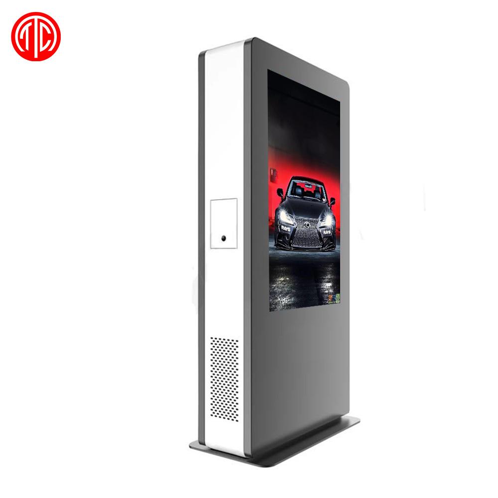 Dual Seite outdoor digital signage kiosk totem LCD <span class=keywords><strong>werbung</strong></span> display Wasserdicht 55 zoll IP65 senalizacion digital <span class=keywords><strong>al</strong></span> aire libre