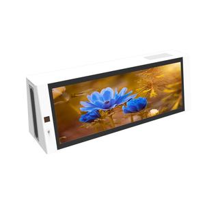 Taxi top werbung P2 P0.4 display outdoor digital signage HD lcd monitor doppel seite totem netzwerk wifi 3G/ 4G