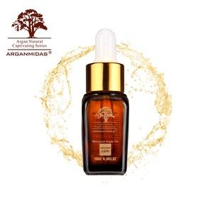 Malaysia Kosmetische Glas Flasche Private Label Reines 100% Reine Natürliche Organische Moroccan Arganöl Haar Öl