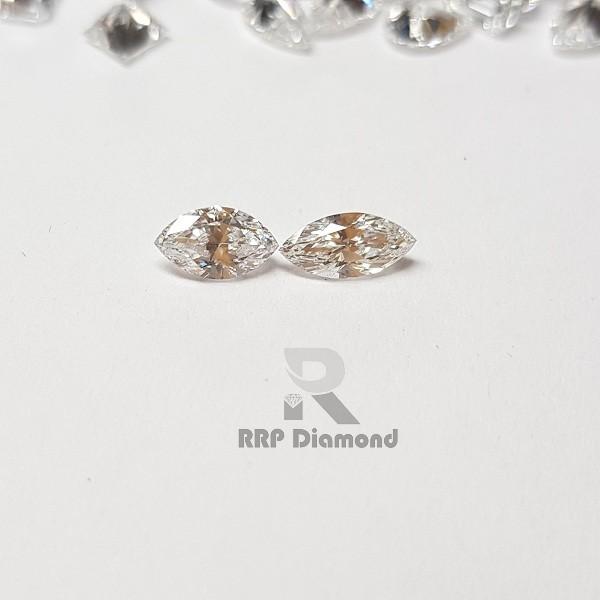 Diamante sintetico da 0.30 a 0.39 ct a taglio fine bianco DEF Colore lucido VS diamante Marquise pulito