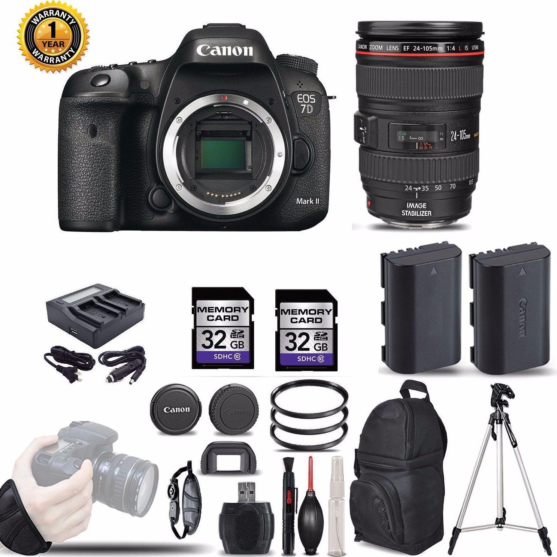 Оптовая продажа для Canon EOS 7D II Цифровые зеркальные камеры с объективом (MK 2 Mark II DSLR) PKG сделки