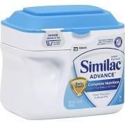 Similac Advance Complete Nutrition Infant Formula, Stage 1, 0-12 Months - 23.2 oz tub