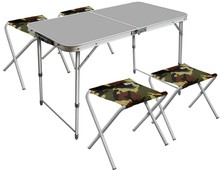 folding table and 4 chairs picnic set
