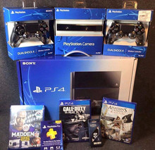 BUY 2 GET 1 FREE Original Sales For New Latest Play Station 4 PS4 500GB console + 15 Free Games & 2 Wireless controller-
