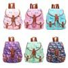 2015 New Famous Fashion Sausage Dog Print Retro Style Rucksack Bag with Adjustable Straps,Canvas Bag, Backpacks Bag