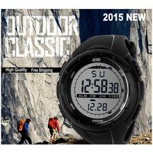 2015 man TITANIUM LED Digital Watches Outdoor Military 5ATM Men Sport Wristwatches