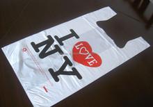 I love u so kute high quality t shirt bag t shirt printing hdpe bag (skype: salestnp01)