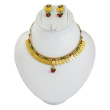South Indian Jewellery Gini Lakshmi Coin Necklace Set Traditional Jewellery Set Gift For Her -BNS6418