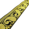 Woven Jacquard Ribbon Yellow Craft Supply 6.3 Cm Wide Sari Ribbon RT1145B