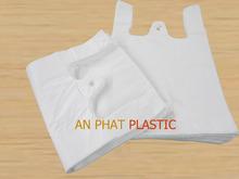 High Denstiy thank you shopping packing plastic vest carrier t-shirt plastic bag