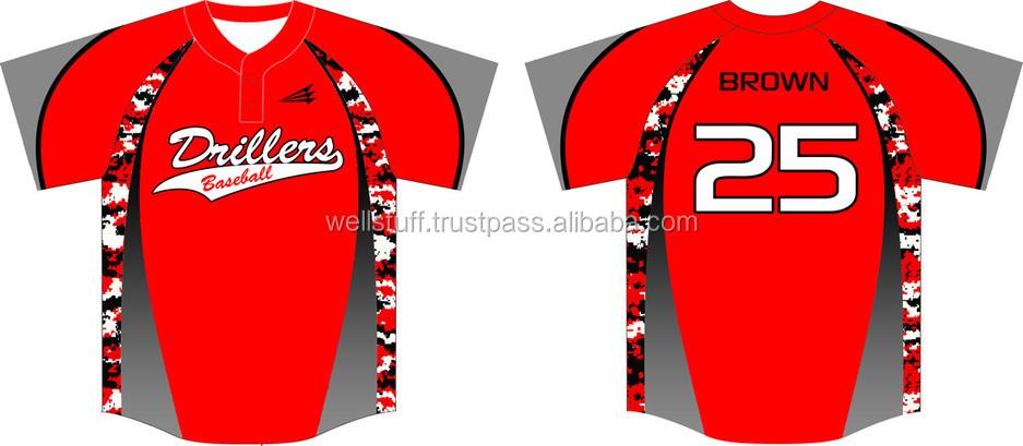 Baseball Jersey no Buttons Button Down Baseball Jersey