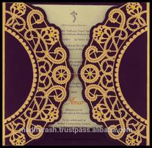 Indio invitaciones de boda | tarjetas de boda | invitación de corte láser