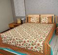 Drap de lit bon ensembles. block jaipuri coton imprimé drap de lit