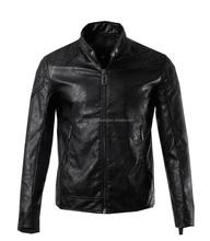 Gents Black Real Leather Jacket COAT NEW Fashion Motorcycle Biker Harley Leather Jacket