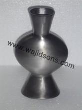 Shiny Finished Aluminum Flower Vase Silver Home Decor Accent