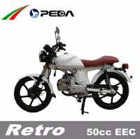 (PEDA Motor) 2015 Hot 50cc EEC Motorcycle for Sale COC Low Cost Vintage Style 17 inch tire (Retro)