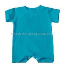 Manga corta del mameluco venta al por mayor en blanco ropa del bebé