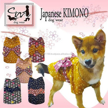 Various types of Japanese pet clothing Kimono for Dog at reasonable prices