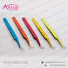 New Arrivals!! Eyelash Extension Tweezers with Chrome Powder Coating/ Chrome Colour Tweezer Lashes with Brand Logo Facility