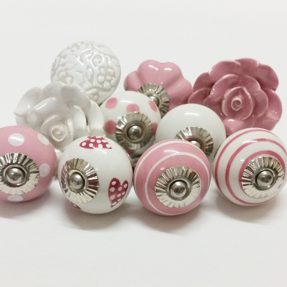 Hot Sale Ceramic Knobs Wholesale Decorative Colorful Knobs For Kitchen Cabine