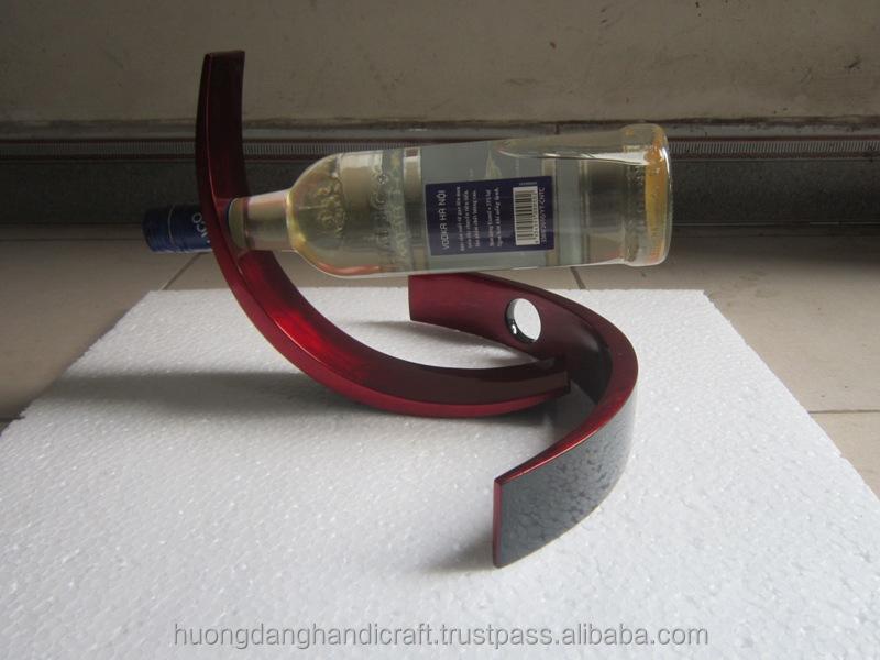 2015 새로운 디자인 옻칠 와인 병 홀더 장식-뛰어난 레드 컬러 병 ...