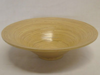 handicraft bamboo bowl natural glossy color flat shape nice design high quality lacquer bowl